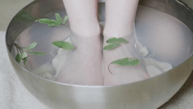 Isotonisches Fußbad